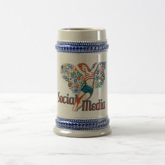 Social Media fairy pin-up Beer Steins