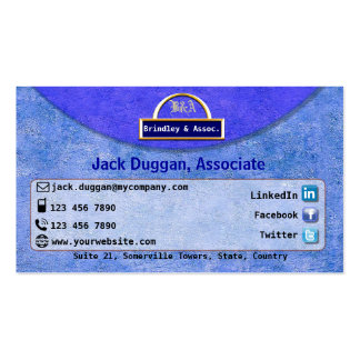 Social Media Focused With Textured Blue Design Pack Of Standard Business Cards