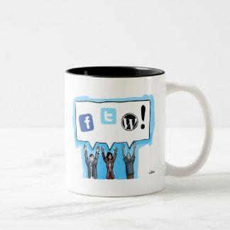 Social Media FTW! Two-Tone Mug