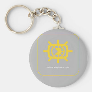Social Media graphic Basic Round Button Key Ring