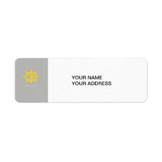 Social Media graphic Return Address Label