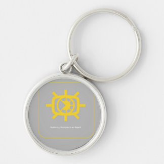 Social Media graphic Silver-Colored Round Key Ring