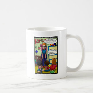 Social Media In Kindergarten Funny Gifts & Tees Classic White Coffee Mug