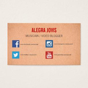 Facebook business cards business card printing zazzle uk social media musician you tube business card colourmoves