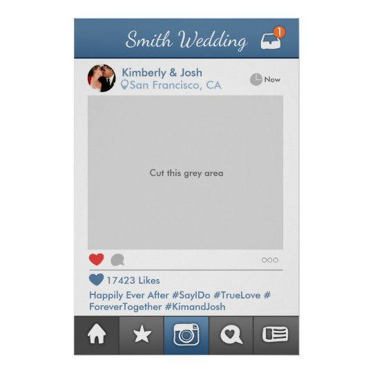 Social Media Photo Prop Frame Wedding Photo Booth
