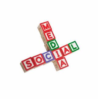 Social media standing photo sculpture