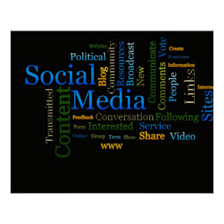 Social Media Related Text Poster