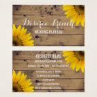 Social Media   Rustic Sunflowers Wedding Planner Business Card