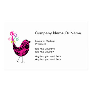 Social Media Silhouette Business Cards