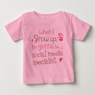 Social Media Specialist (Future) Infant Baby T-Shi Infant T-Shirt