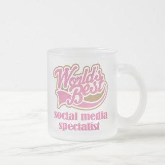 Social Media Specialist Pink Gift Mug