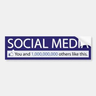 Social Media Sticker Bumper Stickers