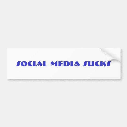 social media sucks bumper sticker