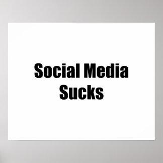 Social Media Sucks Poster