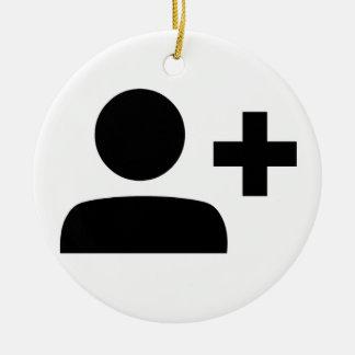 Social Media Symbol Round Ceramic Decoration
