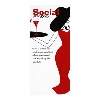 Social Mixer Rack Card