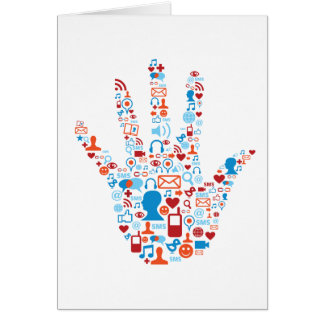 Social Network Hand Card