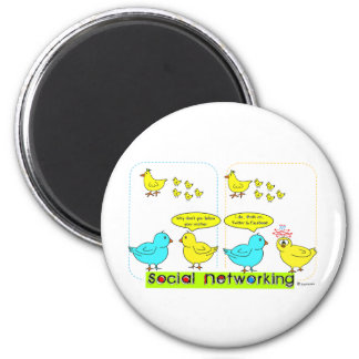 Social Networking 6 Cm Round Magnet
