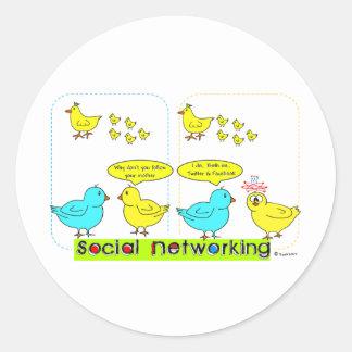 Social Networking Round Sticker
