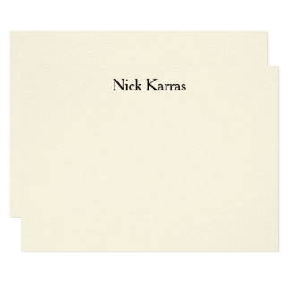 Social Notecard with Professional Name 11 Cm X 16 Cm Invitation Card