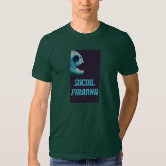 Social Piranha Tee Shirts