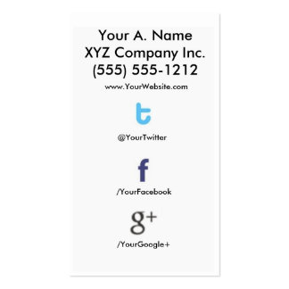 Social Profile Business Card tfg 2 0 tfgback
