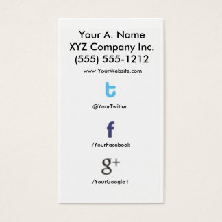 Social Profile Business Card tfg 2.0 tfgback