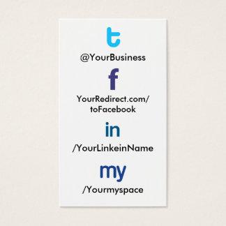Social Profile Business Card tflm 2.0 vertblankbak