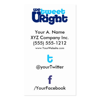 Social Profile Business Card WTURite 2 0 vertTWFB