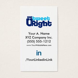 Social Profile Business Card WTURiteB 2.0 vertfbak