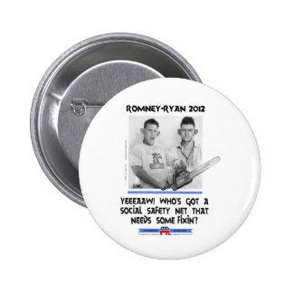 social safety net ryan romney tshirt.jpg 6 cm round badge