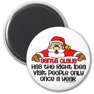 Social Santa Humor 6 Cm Round Magnet
