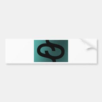 Social Satellites Color Background / Black Logo Bumper Sticker