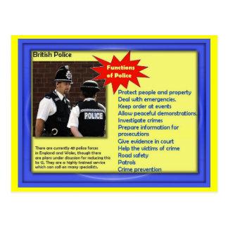 Social Studies, British Police Postcard