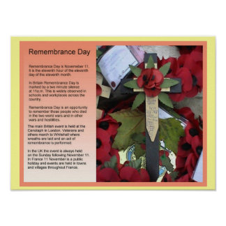 Social Studies, History, Remembrance Day Poster