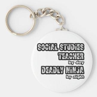 Social Studies Teacher ...Deadly Ninja Key Ring