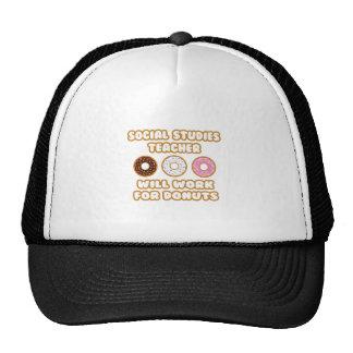 Social Studies Teacher .. Will Work For Donuts Trucker Hats
