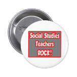 Social Studies Teachers Rock! 6 Cm Round Badge