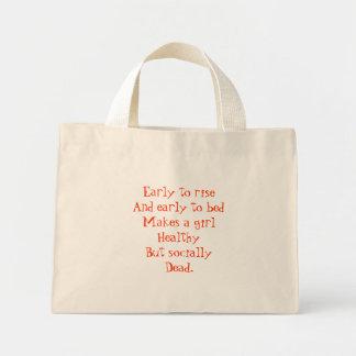 Social Totebag with Orange Flowers Tote Bag