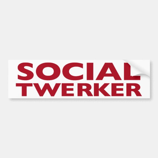 Social Twerker Bumper Sticker