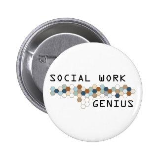 Social Work Genius Pinback Buttons