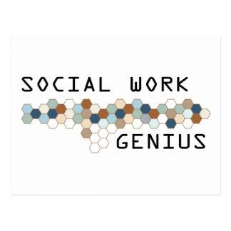Social Work Genius Postcard