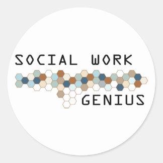 Social Work Genius Sticker