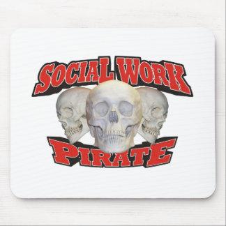 Social Work Pirate Mouse Mat