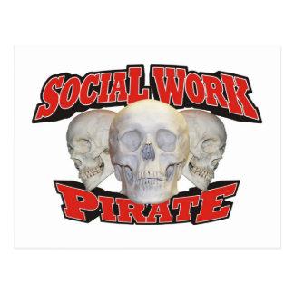 Social Work Pirate Postcard