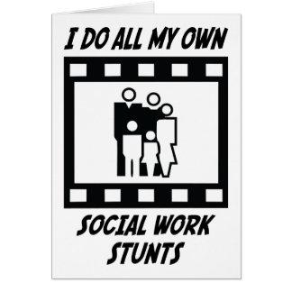Social Work Stunts Card