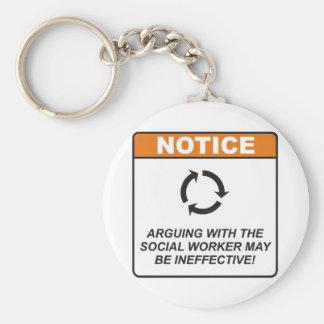 Social Worker / Argue Key Chains
