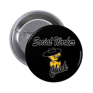Social Worker Chick #4 Buttons