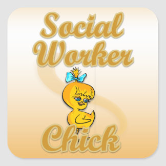 Social Worker Chick Stickers