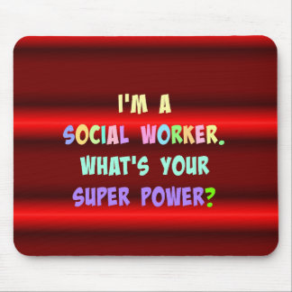 Social Worker Colorful Design Mouse Mat
